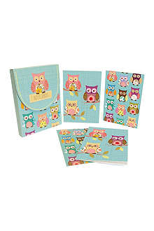 GO STATIONERY Owls set of eight notecards