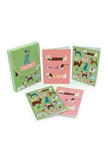 GO STATIONERY Dogs set of eight notecards