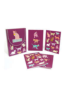 GO STATIONERY Cats set of eight notecards