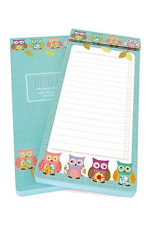 GO STATIONERY Owls To Do list pad