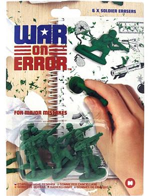 MUSTARD War on Error erasers