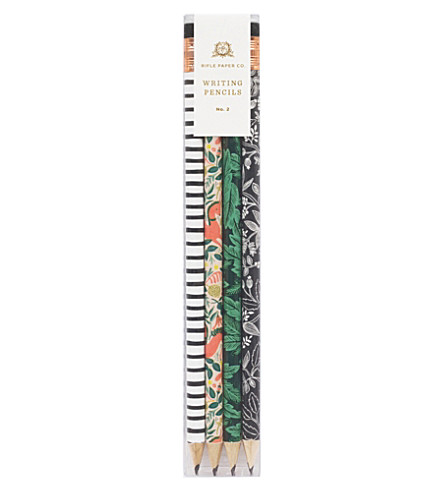 RIFLE PAPER Folk writing pencils set of 12
