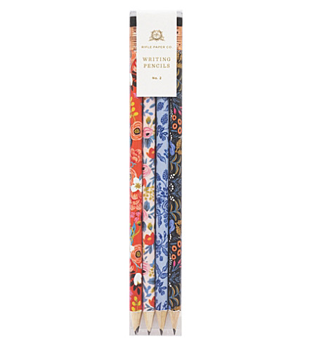 RIFLE PAPER Floral set of 12 writing pencils