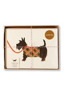 RIFLE PAPER Set of 8 Dog Notelets