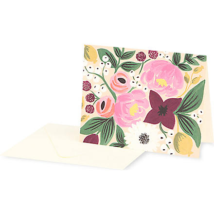RIFLE PAPER Vintage Blossoms stationery set