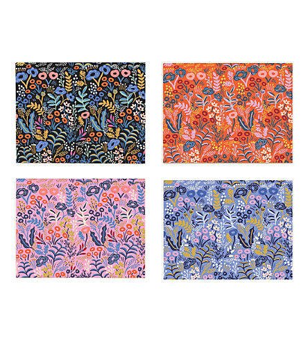 RIFLE PAPER Tapesty assorted cards set of 4