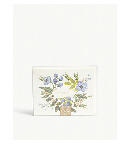 RIFLE PAPER Bouquet design 'Thank You' cards set of eight