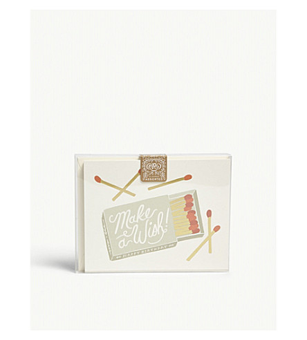 RIFLE PAPER Birthday assorted card set of eight