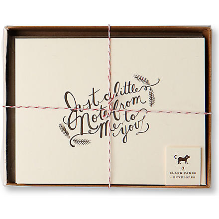 RIFLE PAPER 'Just a Little Note' set of eight notelets