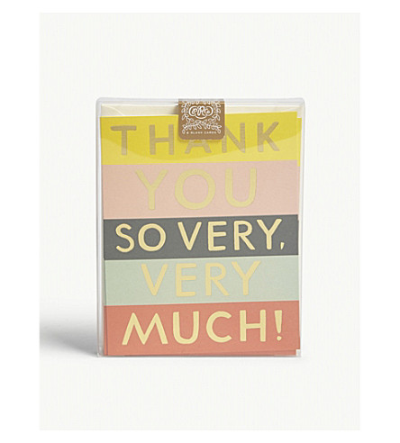 RIFLE PAPER Colour Block thank you card set of eight