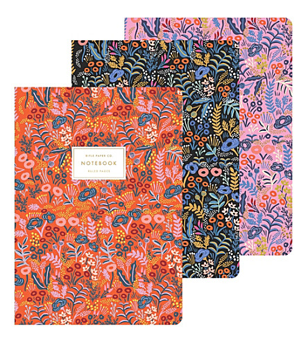 RIFLE PAPER Tapestry notebooks set of 3