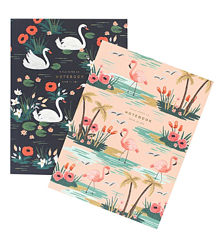 RIFLE PAPER Birds of a feather notebooks set of 2