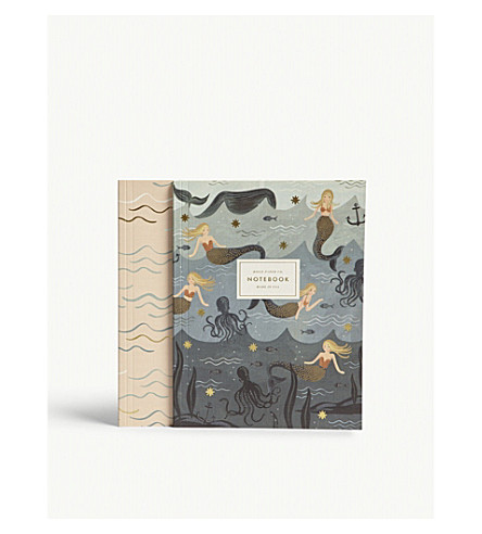 RIFLE PAPER Mermaid notebook pack of two