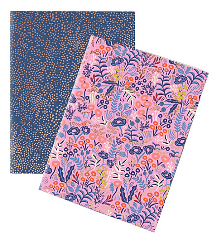 RIFLE PAPER Tapestry pocket notebooks set of 2