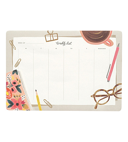 RIFLE PAPER Desktop weekly planner desk pad deskpad