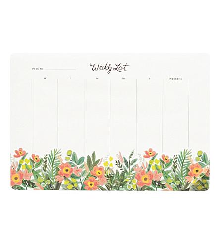 RIFLE PAPER Honeydew weekly planner deskpad