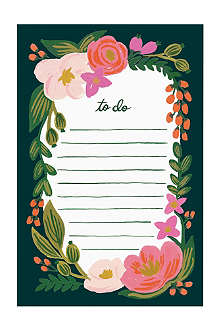RIFLE PAPER 'To do' floral notebook