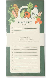 RIFLE PAPER Market shopping pad