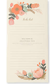 RIFLE PAPER Floral shopping pad