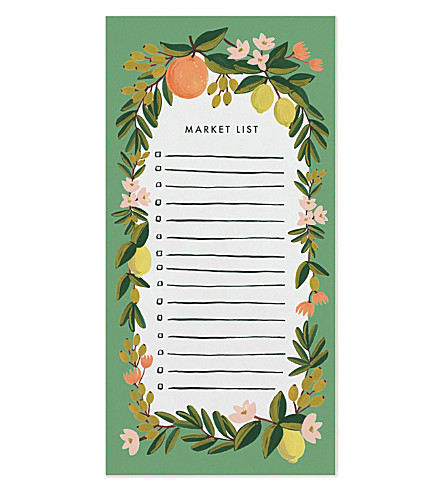 RIFLE PAPER Citrus floral shopping pad