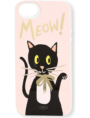 RIFLE PAPER Cat iPhone 5 case