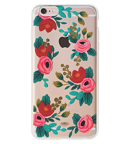RIFLE PAPER Clear Rosa iPhone case