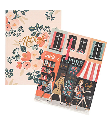 RIFLE PAPER Parisian notebook set of 2