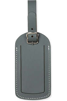 UNDER COVER Slate grey leather luggage label