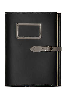 UNDER COVER Black a5 buckle folder