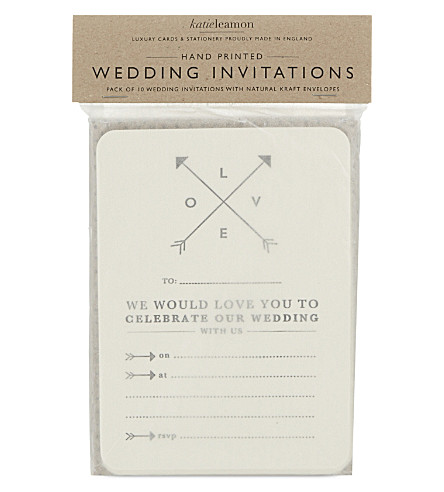 KATIE LEAMON Love wedding invites pack of ten