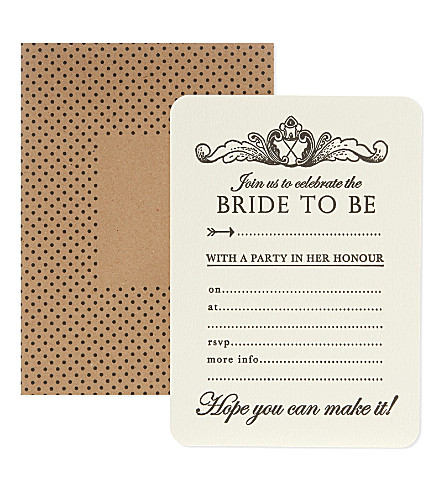 KATIE LEAMON Bridal shower invites