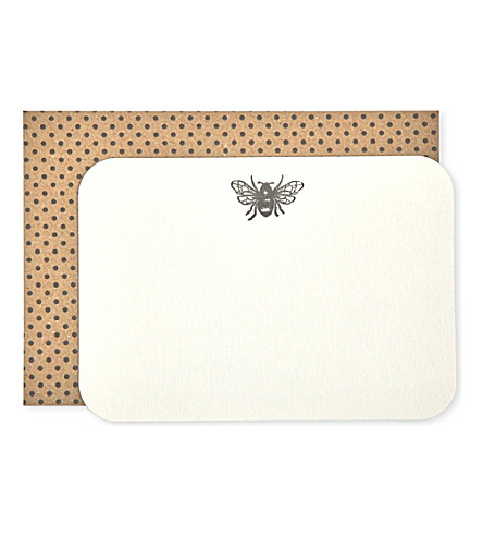 KATIE LEAMON Bee postcard a6 eight pack