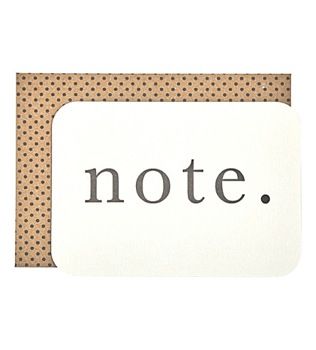 KATIE LEAMON Note postcard a6 pack of eight