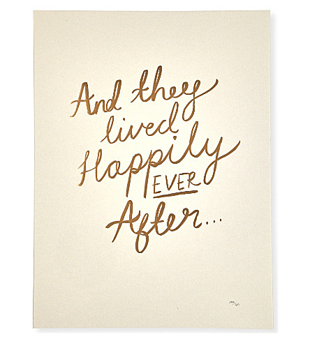 KATIE LEAMON Happily ever after a3 print