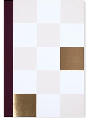 STUDIO SARAH Big Check plain notebook