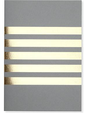 STUDIO SARAH Pocket stripes A6 notebook