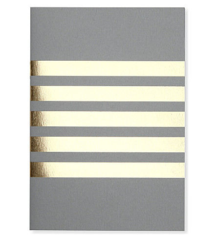 STUDIO SARAH Pocket stripes A6 notebook