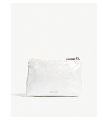 SKINNYDIP Pearlescent faux-leather make-up bag