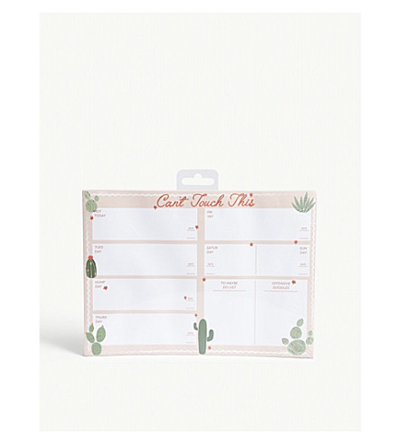 SKINNYDIP Can't Touch This weekly planner 18x25cm