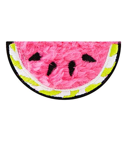SKINNYDIP Fluffy watermelon iron on patch