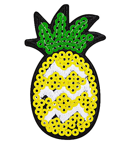 SKINNYDIP Sequin pineapple sticker