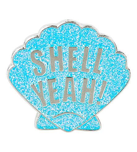 SKINNYDIP Shell Yeah enamel pin