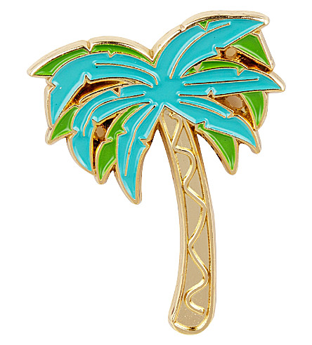 SKINNYDIP Palm enamel pin