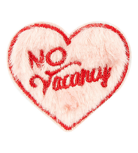 SKINNYDIP 'No Vacancy' fluffy iron on patch