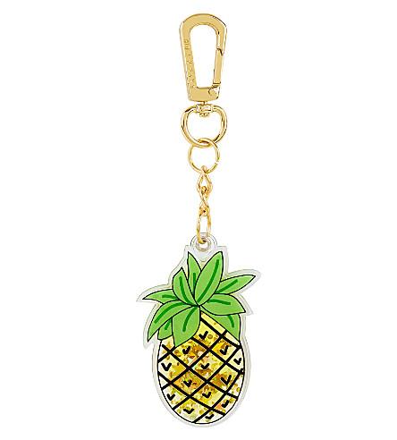 SKINNYDIP Pineapple liquid key charm