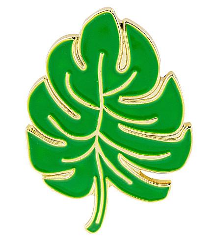 SKINNYDIP Palm leaf enamel pin