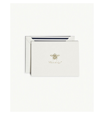 KATE SPADE NEW YORK What's the buzz? notecard box of 10
