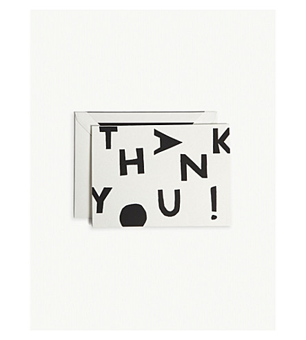 KATE SPADE NEW YORK Tossed letter thank you cards pack of 10