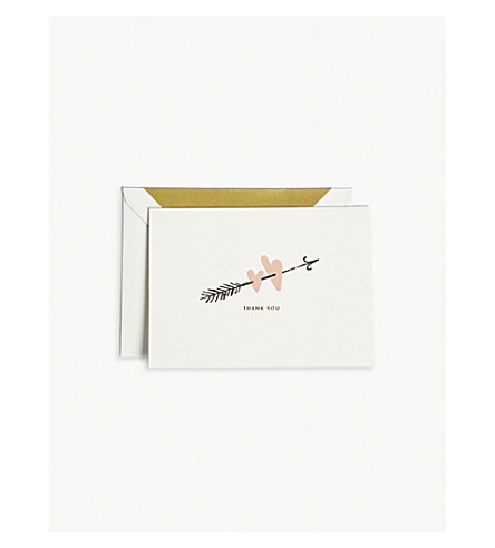 KATE SPADE NEW YORK Bridal Two Hearts Thank You cards