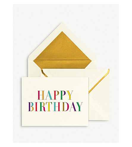 KATE SPADE NEW YORK Birthday Card Stationery Set